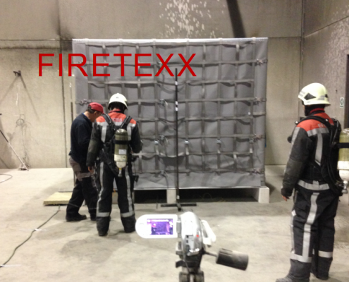 Aircargo fire containment cover